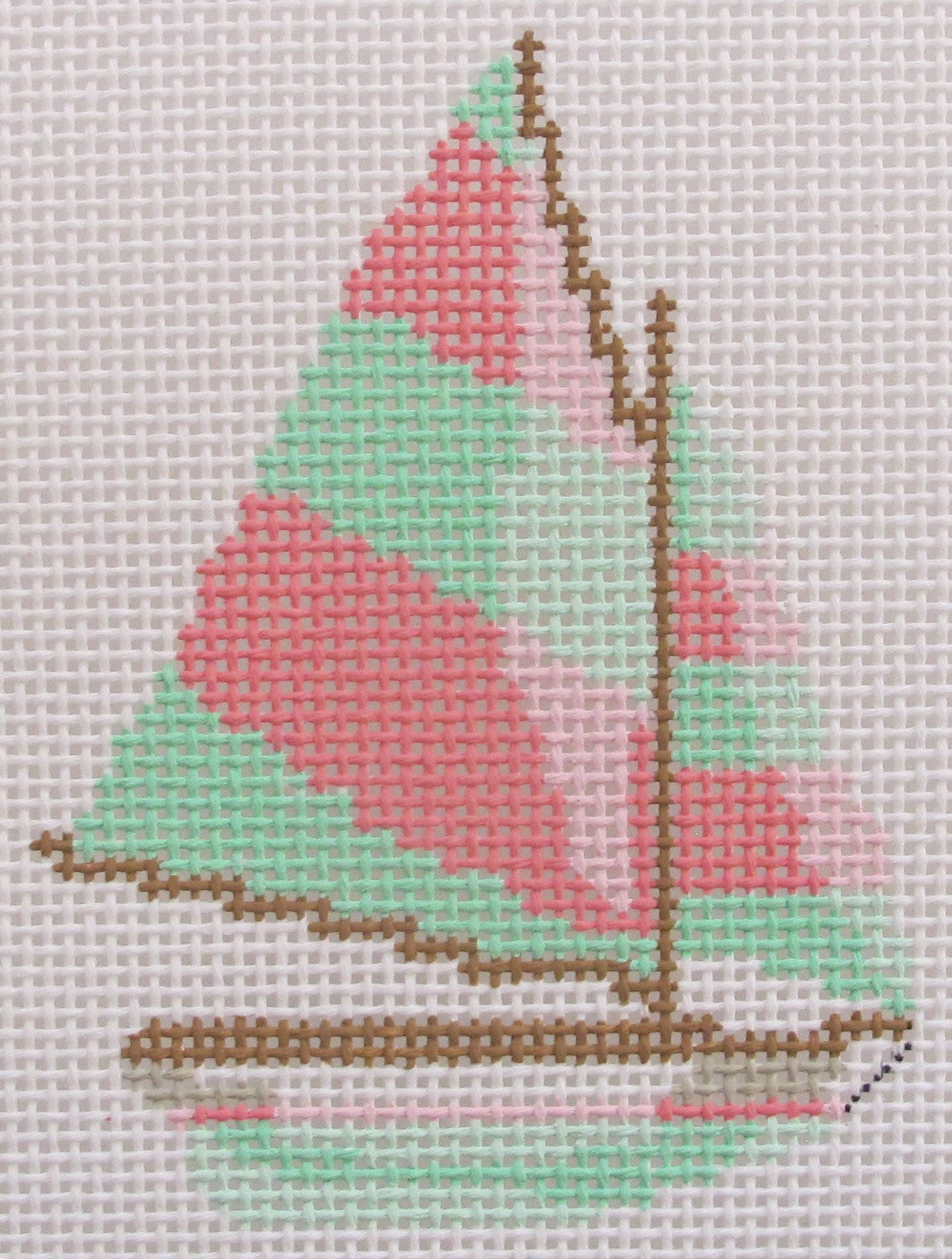 Pink/Green Sailboat