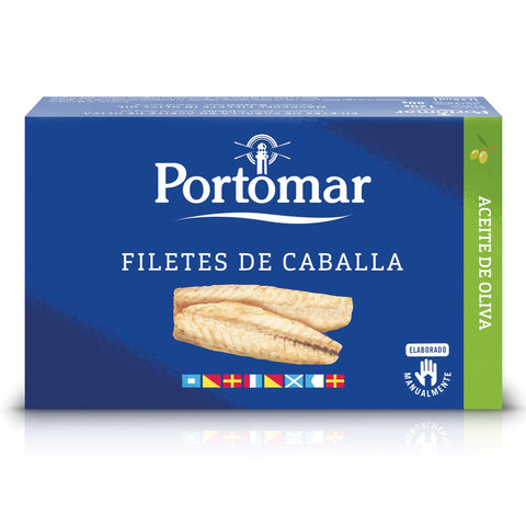 "Filetto di Sgombro all'olio d'Oliva ""Filetes de Caballa"" 120g/80g - PortoMaR - Food&Co.eu"