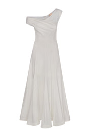One shoulder asymmetric evening dress