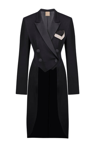 Black tailcoat costume