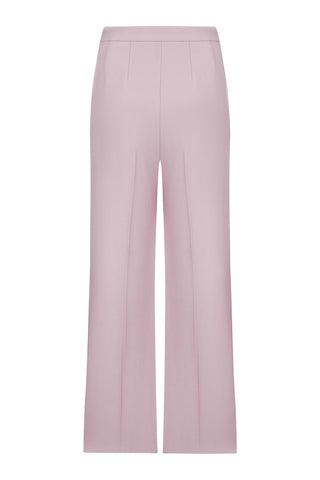 Pink powder wide-leg pants