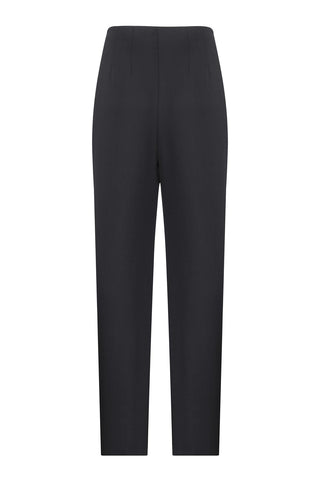 Slim fit pants with zipper on the front