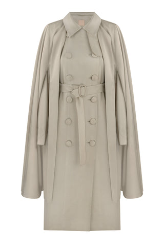 Trenchcoat with detachable-cape