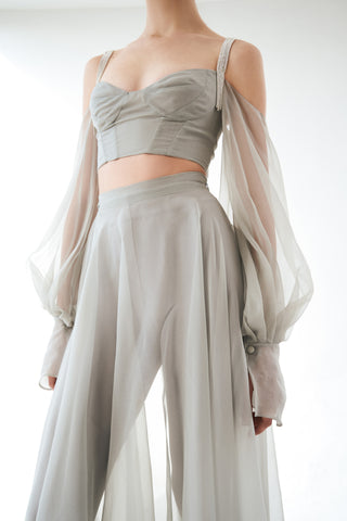 Top with open shoulders