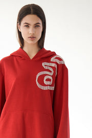 Hoodie with decoration
