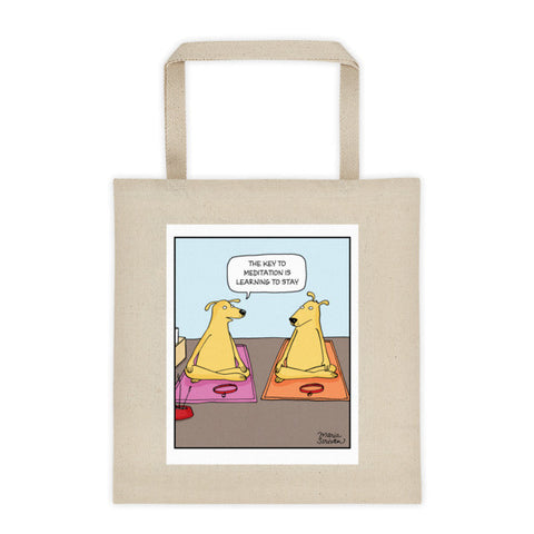 Meditation Dogs Tote Bag