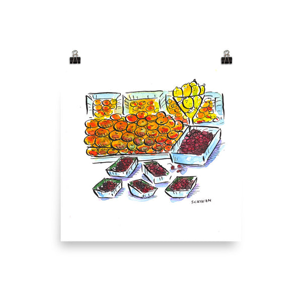 Oranges, Lemons and Cherries Paris Print