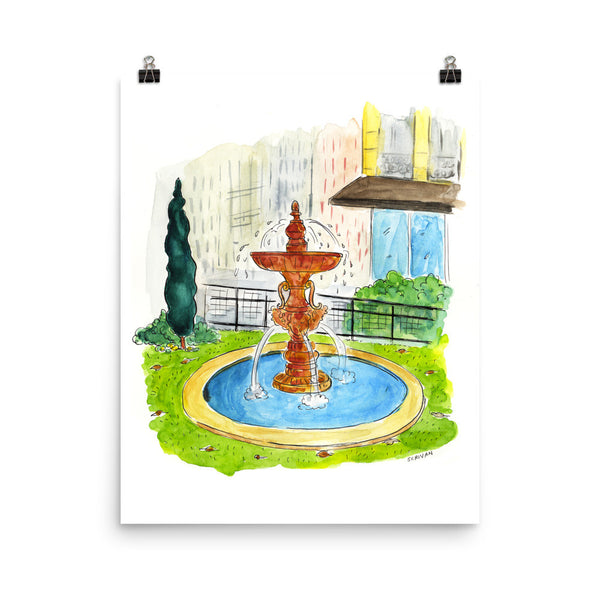 Paris Fountain Print