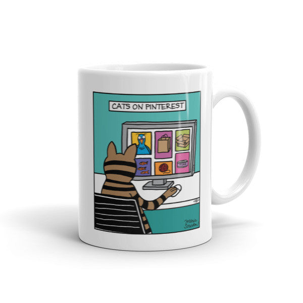 Cats on Pinterest Mug