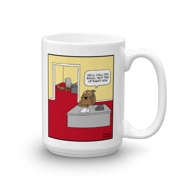 Busy Office Dog Mug