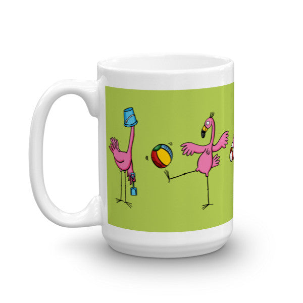 Flamingo Beach Mug