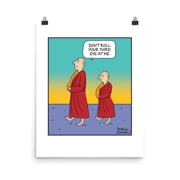 Meditation Monks Print