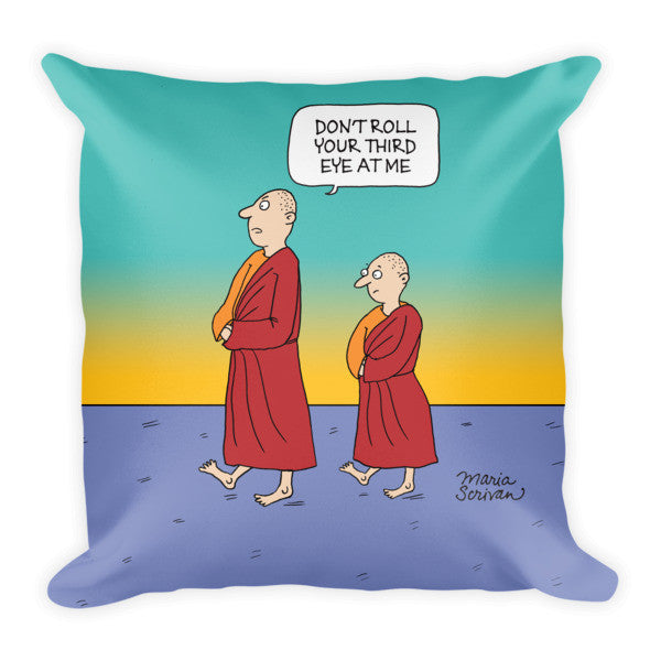Meditation Monks Pillow