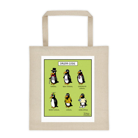 Penguin Dress Code Tote Bag