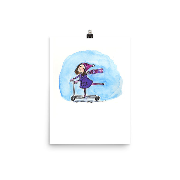 Scooter Girl Paris Print