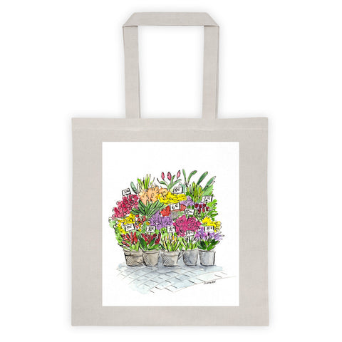 Paris Flowers Tote