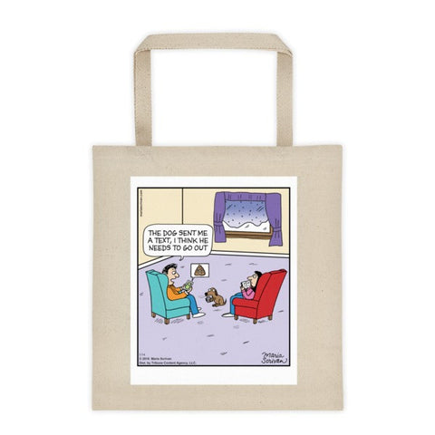 Dog Text Tote Bag