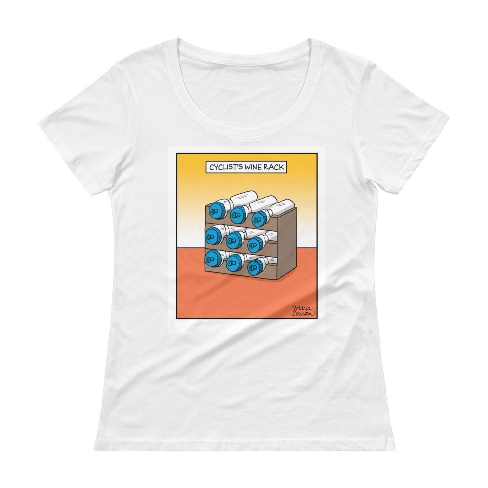 Cyclist's Wine Rack Women's T-Shirt