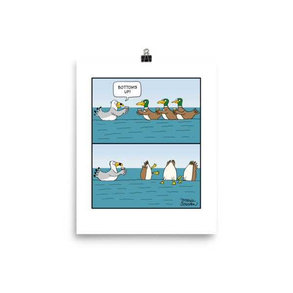 Bottoms Up Ducks Print