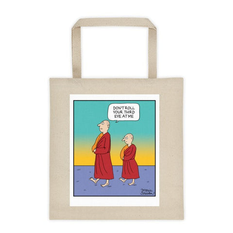 Meditation Monks Tote Bag