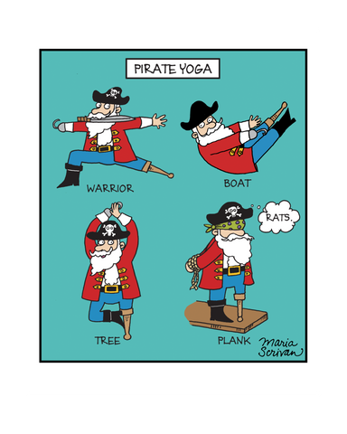 Pirate Yoga Print