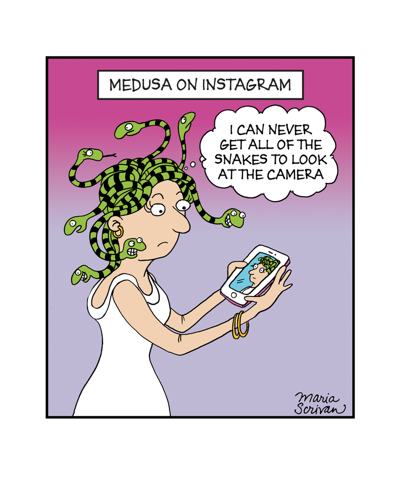 Medusa on Instagram Print