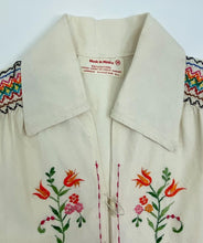Load image into Gallery viewer, Vintage 70's Mexican Embroidered Blouse