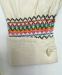 Vintage 70's Mexican Embroidered Blouse