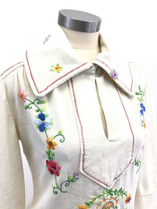 Vintage 70's Embroidered Shirt