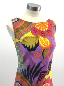 Vintage 60's Hawaiian Print Dress