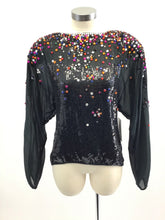 Load image into Gallery viewer, Vintage 70's Beaded Sequin Top