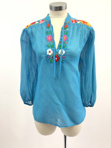 Vintage Embroidered Boho Blouse