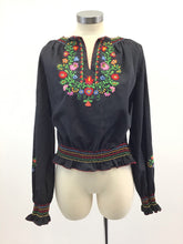 Load image into Gallery viewer, Vintage Embroidered Blouse