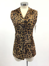 Load image into Gallery viewer, Vintage 70's Faux Leopard Fitted Vest