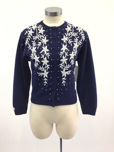 Vintage 50's Beaded Sweater