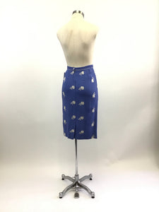 Vintage 50's Embroidered Wiggle Skirt