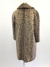 Load image into Gallery viewer, Vintage 50's Leopard Faux Fur Coat