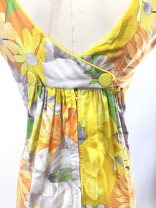Vintage 60's Hawaiian Maxi Dress