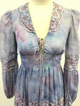 Load image into Gallery viewer, Vintage Tie Dye Gunne Sax Corset Dress