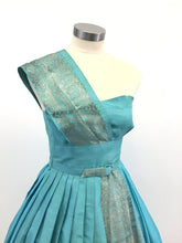 Load image into Gallery viewer, Vintage 50's Strapless Full Skirt Midi Dress