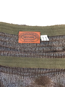 Vintage 80's Missoni Knit Skirt