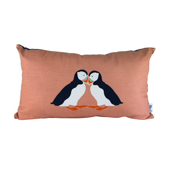 RSPB Puffin Cushion (Rectangle)