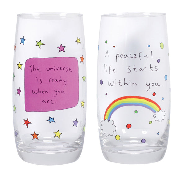 May The Thoughts Be With You Set of 2 Glasses - Assorted