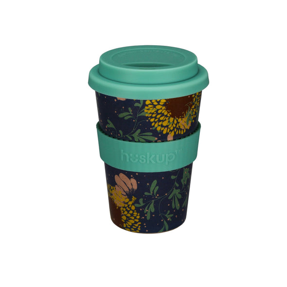 Teal Sunflower Huskup Travel Mug