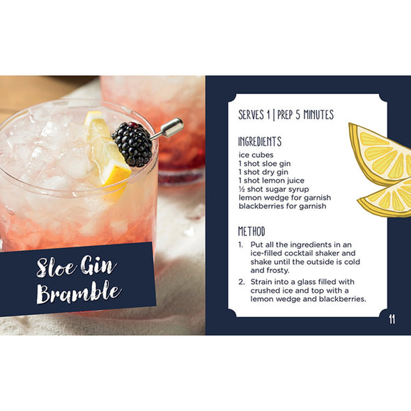 Gin Mini Book & Hip Flask Gift Set