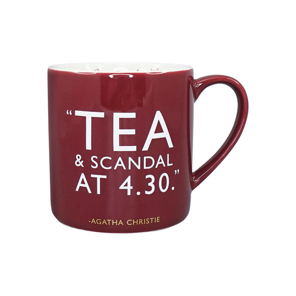 Agatha Christie Mug – Tea and Scandal