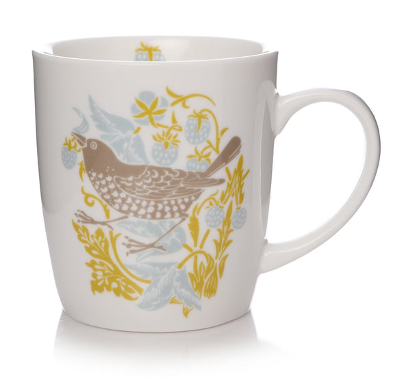 William Morris Strawberry Thief Mug - Secret of Happiness