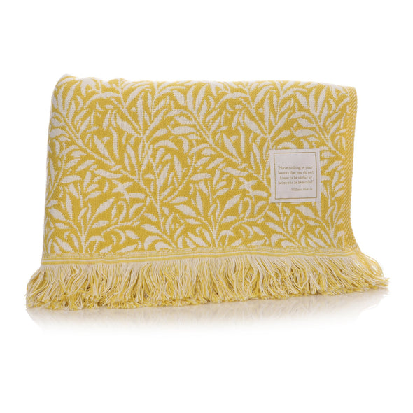 William Morris Willow Blanket - Ochre Yellow
