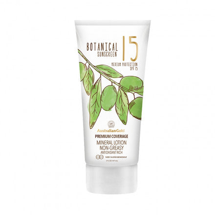 Australian Gold SPF15 Botanical Sunscreen Mineral Lotion 147 ml