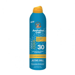 Australian Gold SPF30 Fresh & Cool Continuous Spray Sunscreen 177 ml